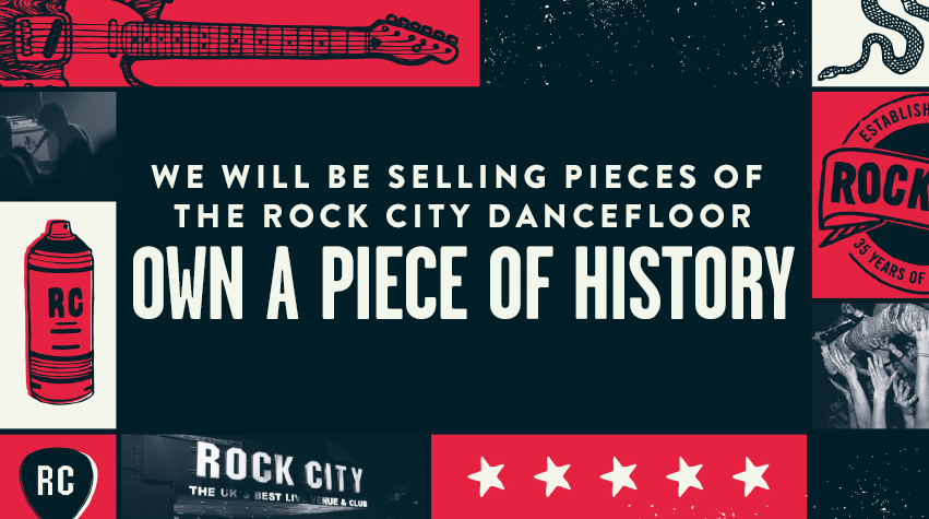 Own a piece of the Rock City dancefloor!